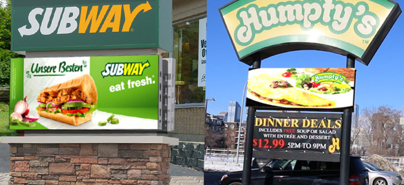 LED Signage & Billboards for Franchise Restaurants