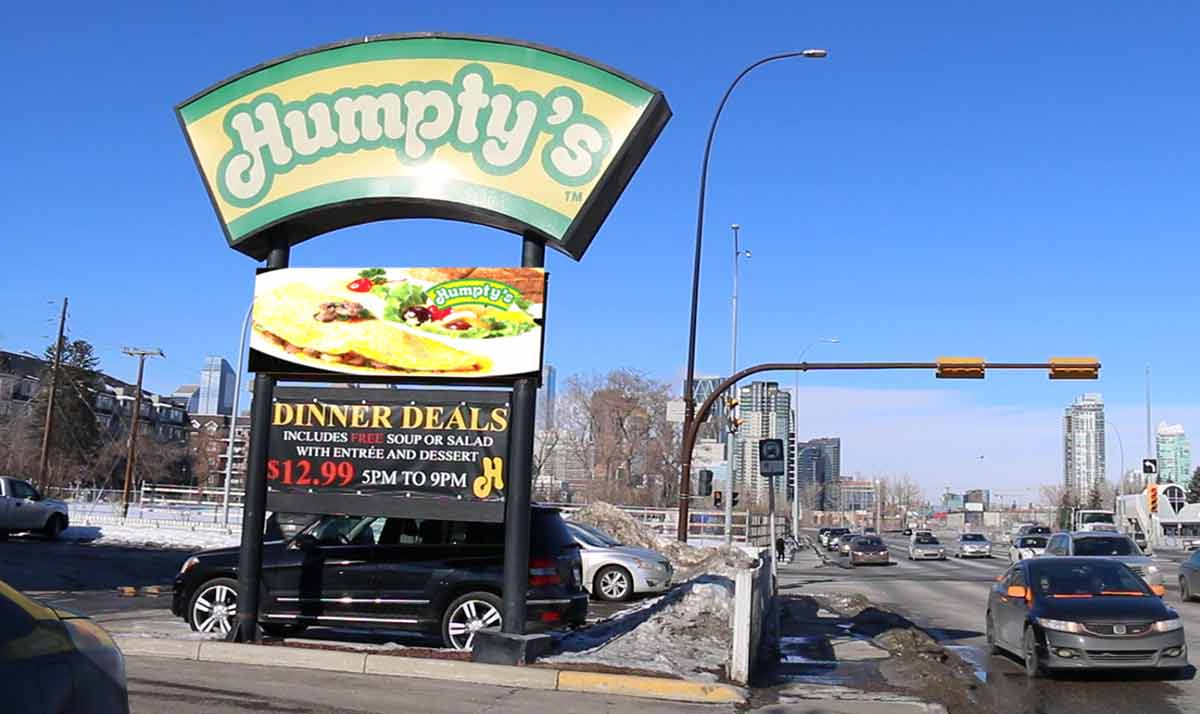 LED Signs for Fast Food Franchise