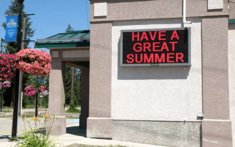 Electronic Signs for Schools