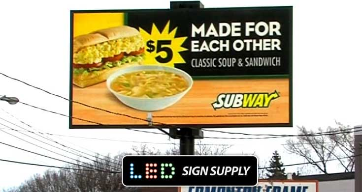 Billboard LED Signage for Franchises