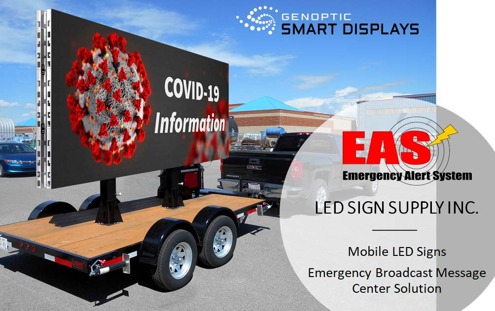 Mobile LED Message Board Display
