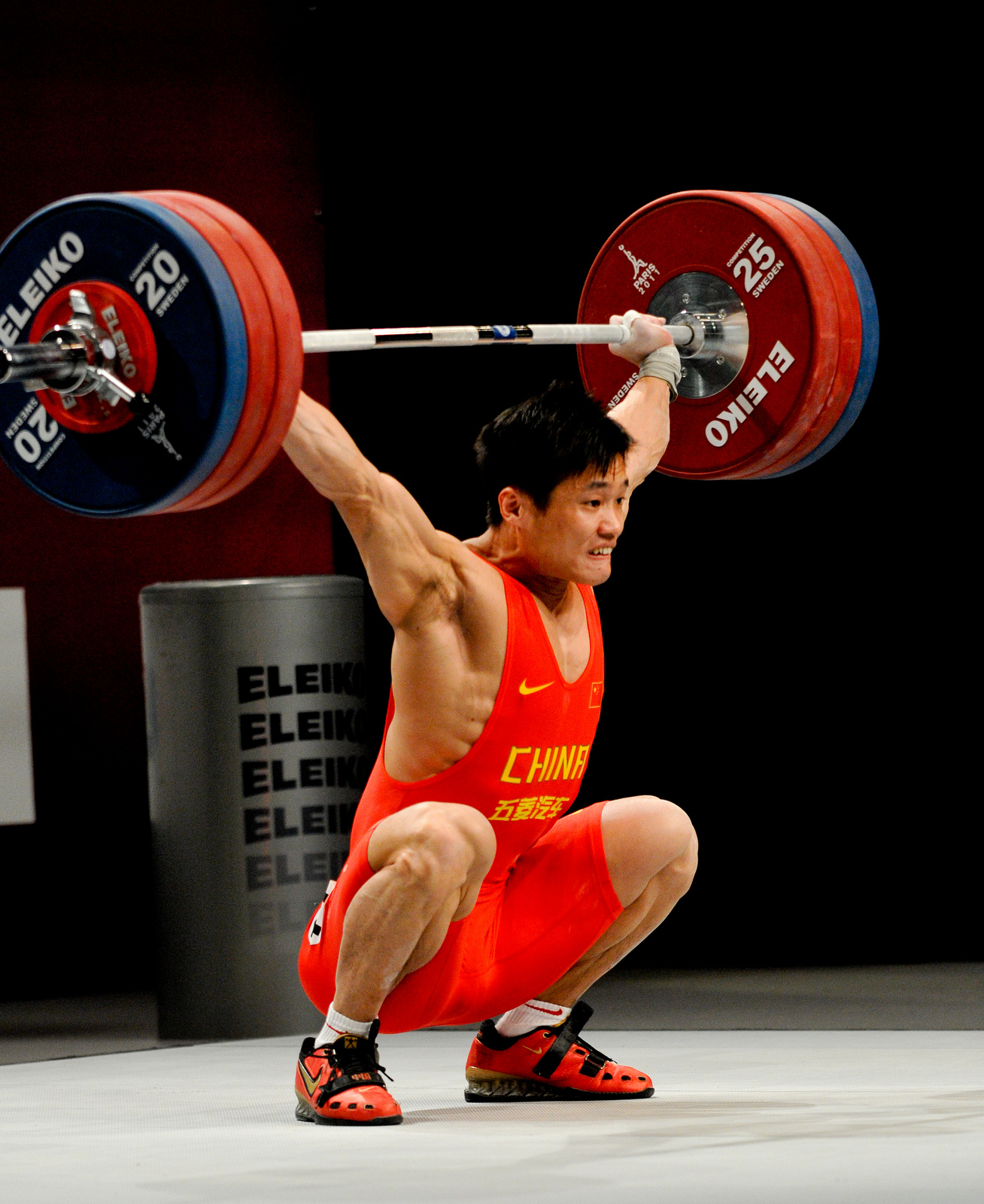 Athlete Performing a Snatch