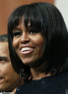 Michelle Obama straightens hair with a keratin treatment