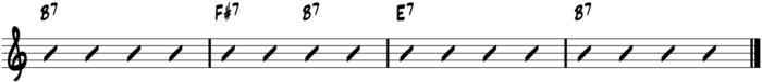 II-V-Fingerstyle Blues Turarnound Chord Progressions - II V I