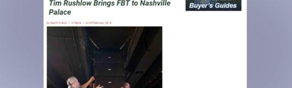"FOH Online: ""Tim Rushlow Brings FBT to Nashville Palace"""