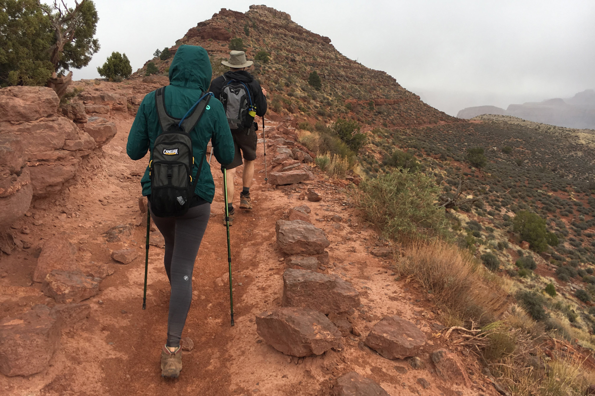 Hiking South Kaibab trail in the Grand Canyon