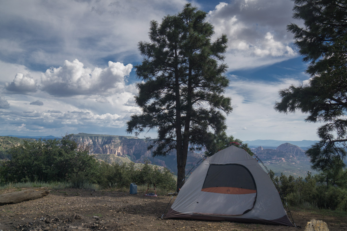 Free dispersed tent camping at the Edge of the World in Flagstaff