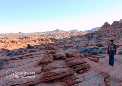 Walking-to-the-Wave-and-Coyote-Buttes-Area-in-Utah