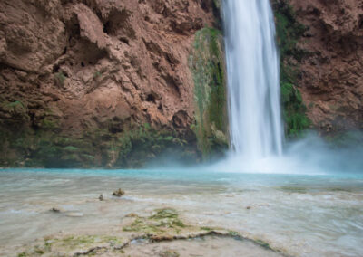 Mooney Falls and shallow swimming pool.