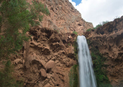 Mooney Falls and the sky.