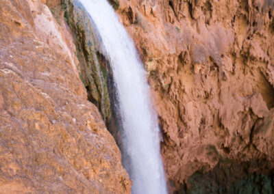 View of Mooney Falls from a ledge near the top.