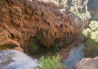 At the edge of Mooney Falls from the top.