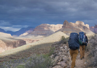 Backpacking on the Hermit Trail.