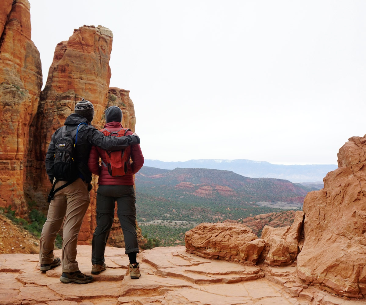 Hiking-Cathedral-Rock-Trail-Sedona-AZ-Winter