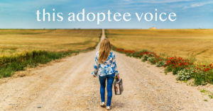 Ann Peck, this adoptee voice, little girl walking down the gravel road with suitcase