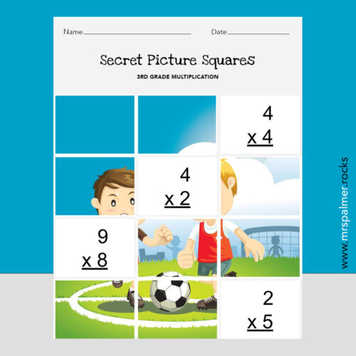 3rd Grade Multiplication 1 - Secret Picture Squares