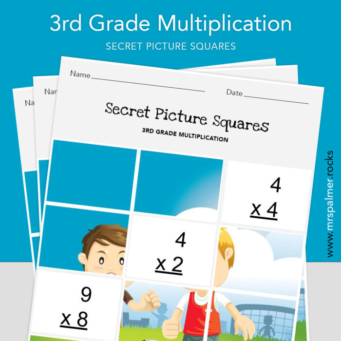3rd Grade Multiplication - Secret Picture Squares