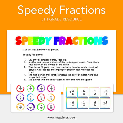 Speedy Fractions 5th-Grade
