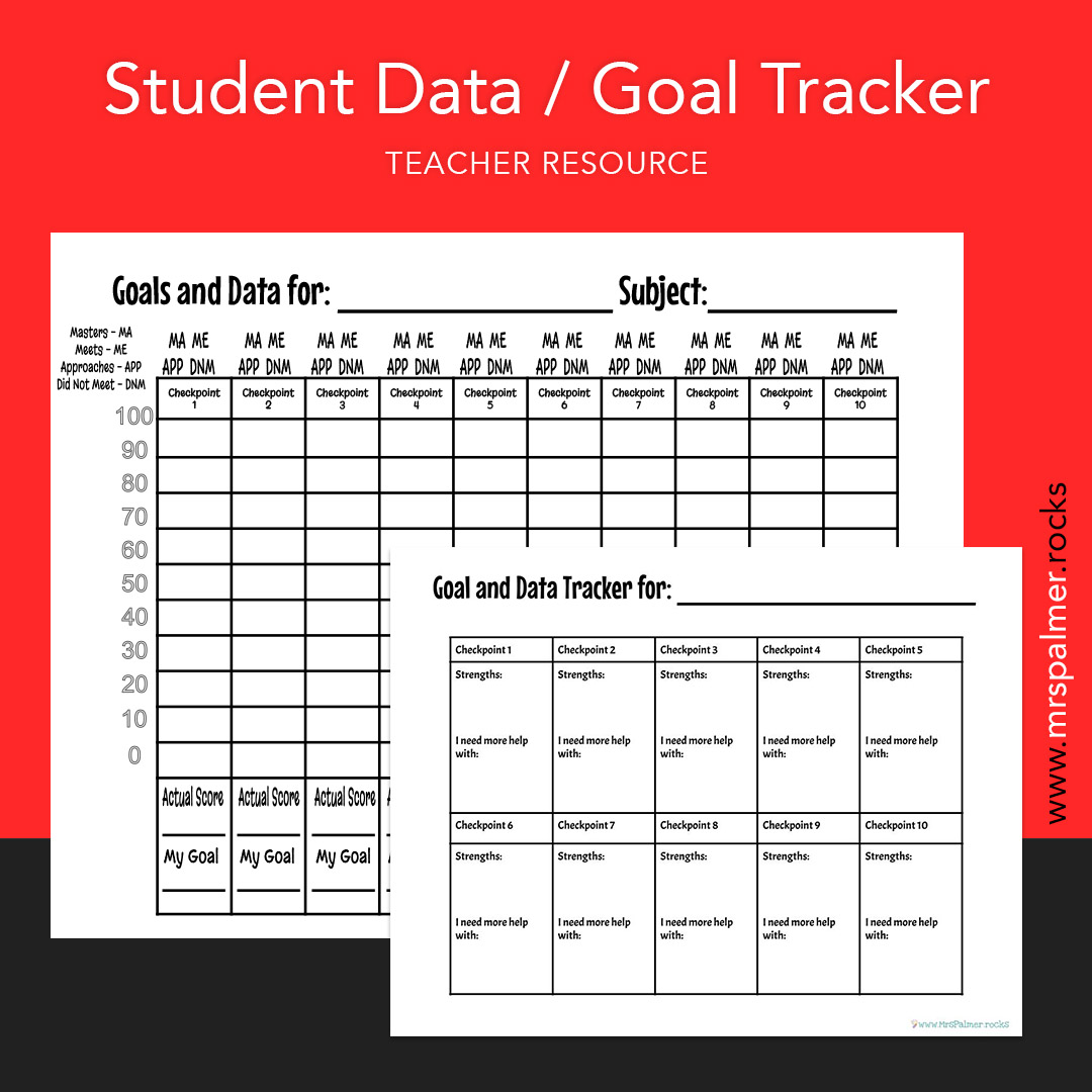 Student Data and Goal Tracker Image