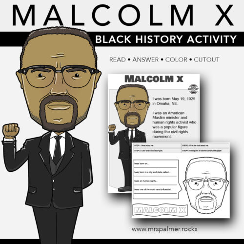 Malcolm X Big Head - Black History Activity