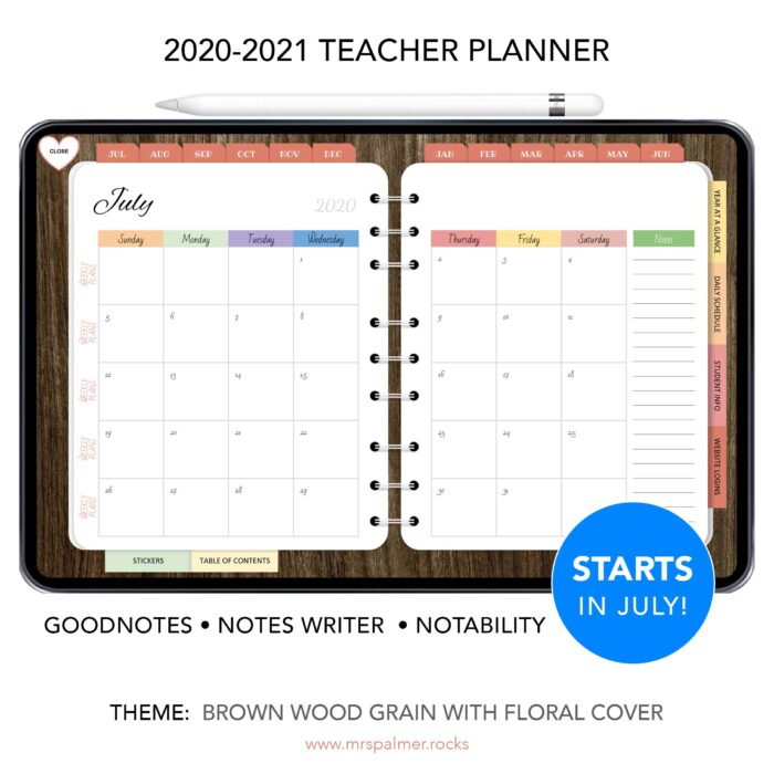 Teacher Planner - Main Product Image