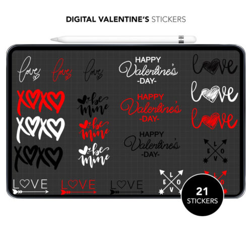 Valentines Day Digital Stickers Img