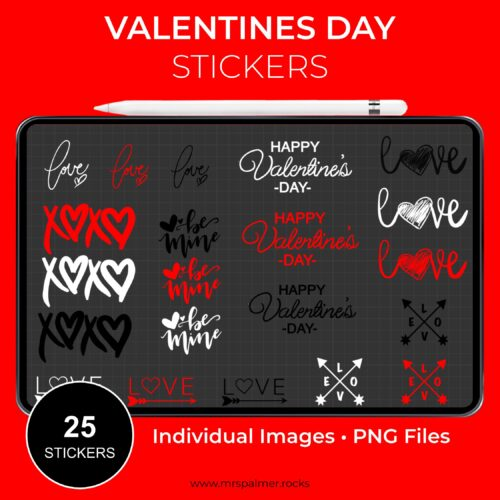 Valentines Day Digital Stickers