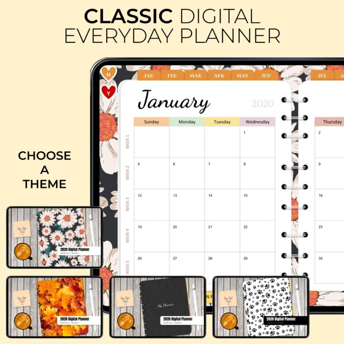 Classic Digital Everyday Planner - Product Image 1