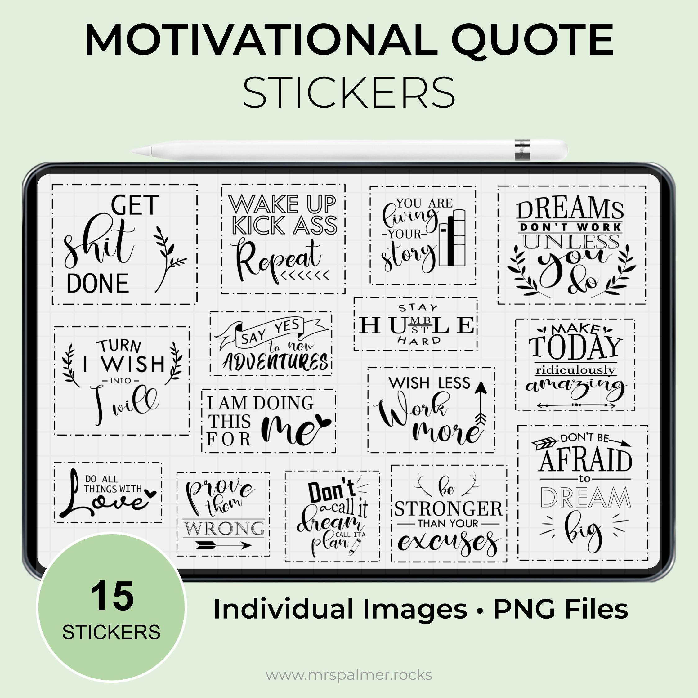 Motivational Quotes Stickers
