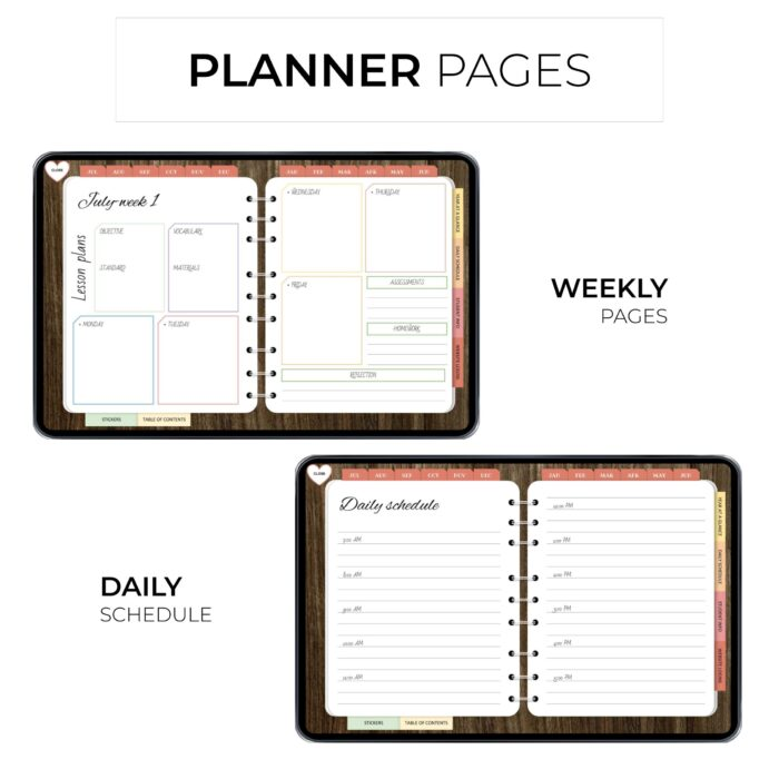 Ultimate Digital Teacher Planner - Product Images 1
