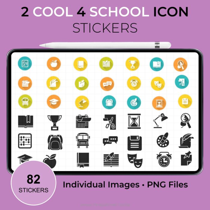 2 Cool 4 School Icons Stickers 2