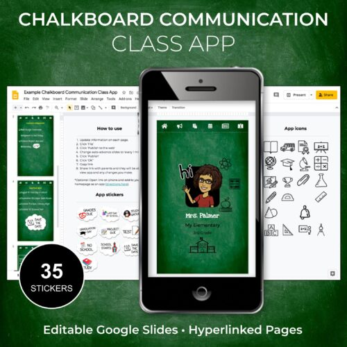 Chalkboard Communication Class App