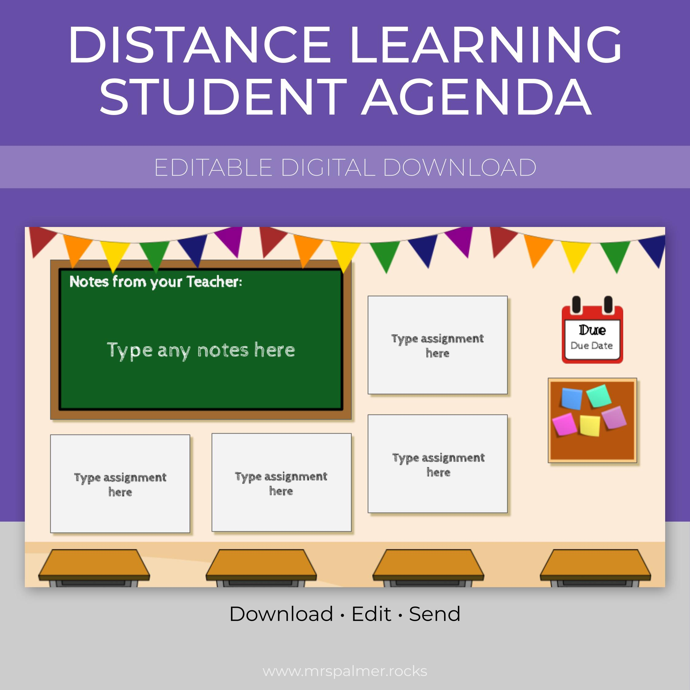 Distance Learning Student Agenda 2