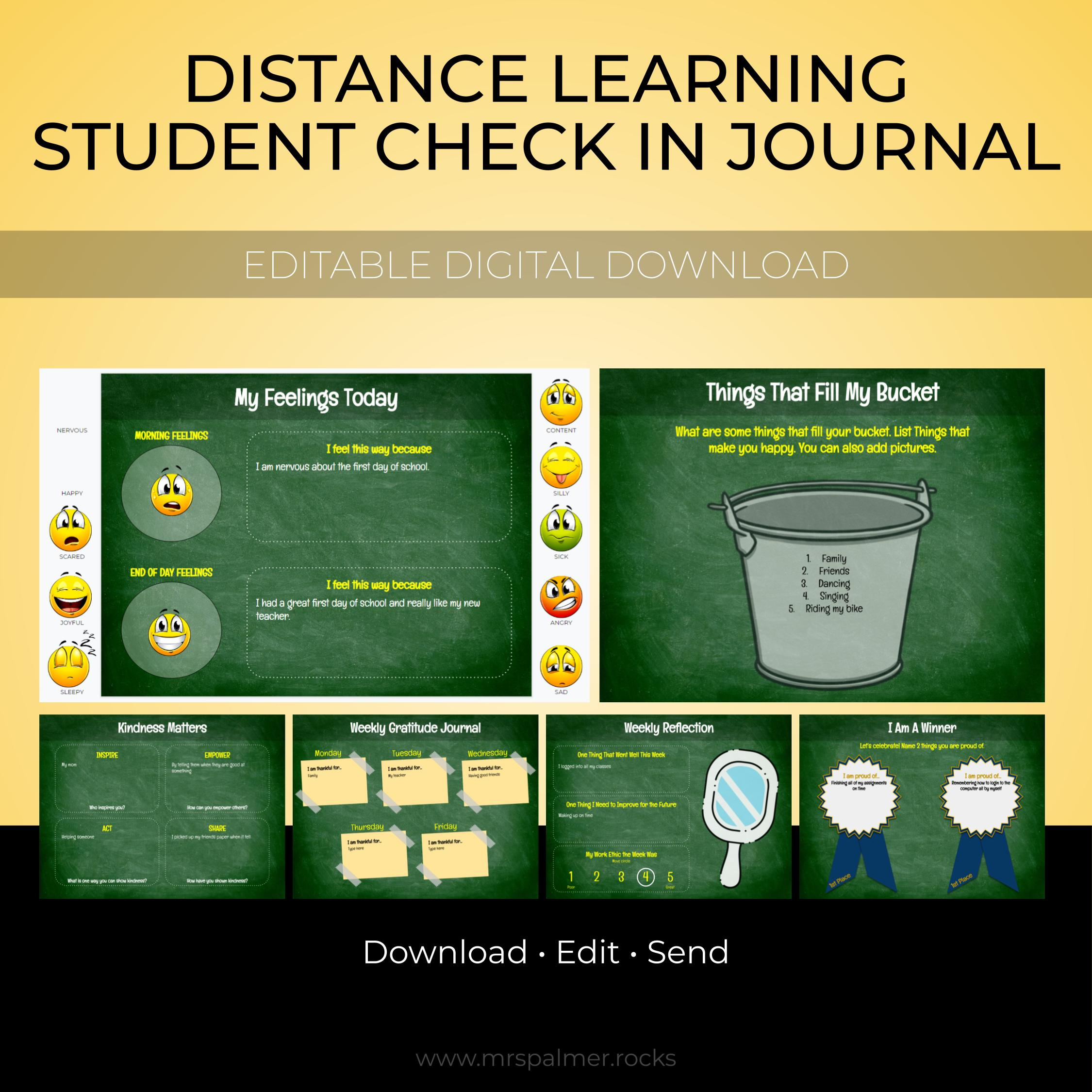 Distance Learning Student Check In Journal