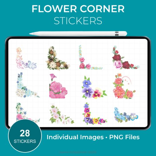 Flower Corner Stickers - Product Image 1