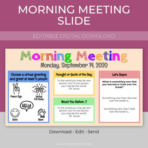 Morning Meeting Slide