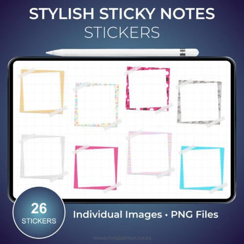 Stylish Sticky Notes Stickers 1