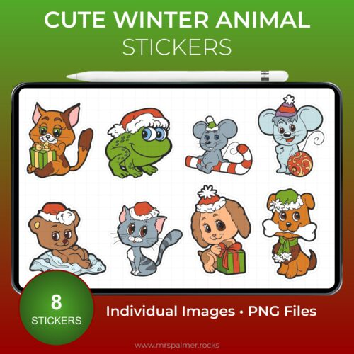 Cute Winter Animal Stickers