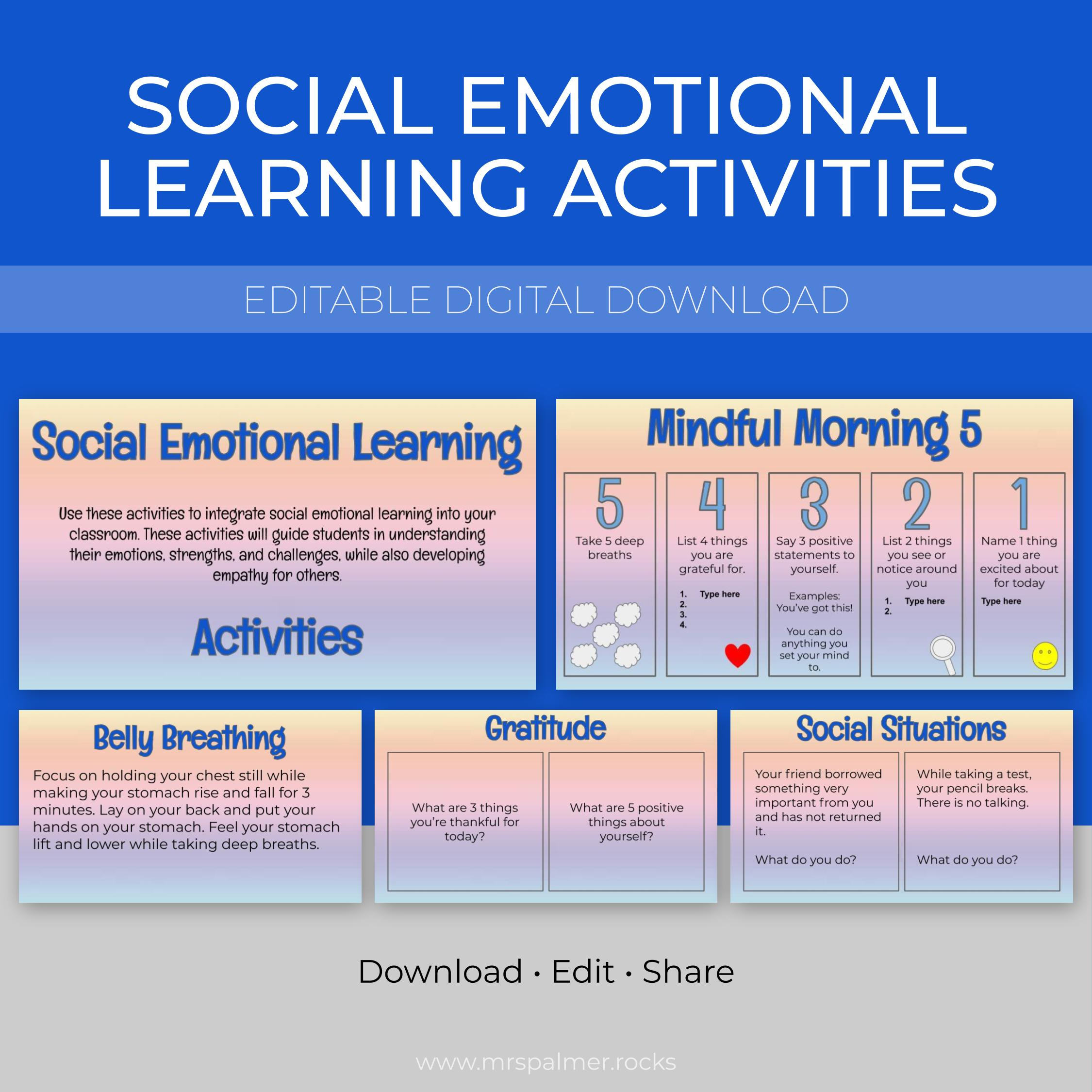 Social Emotional Learning Activities