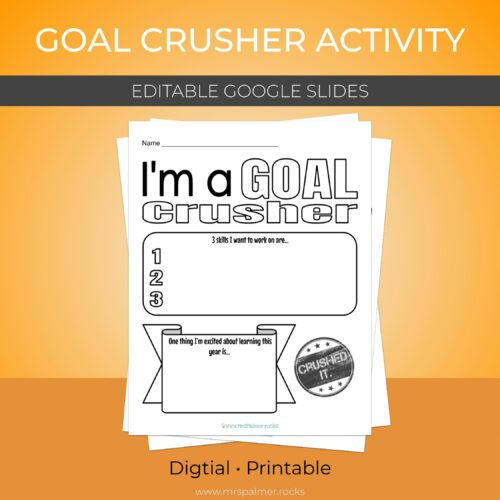 Goal Crusher Activity (Digital - Printable)