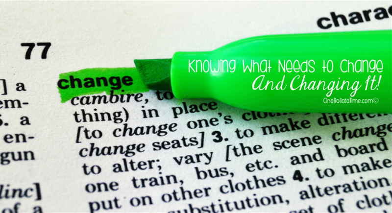 Knowing What Needs to Change And Changing It