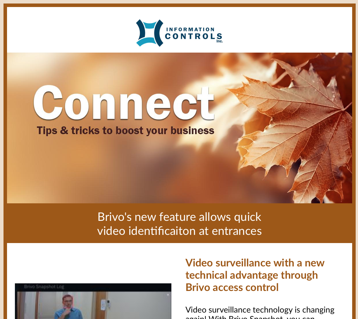 Information Controls' Fall 2021 Newsletter