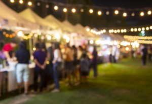 bbq festival lights tents