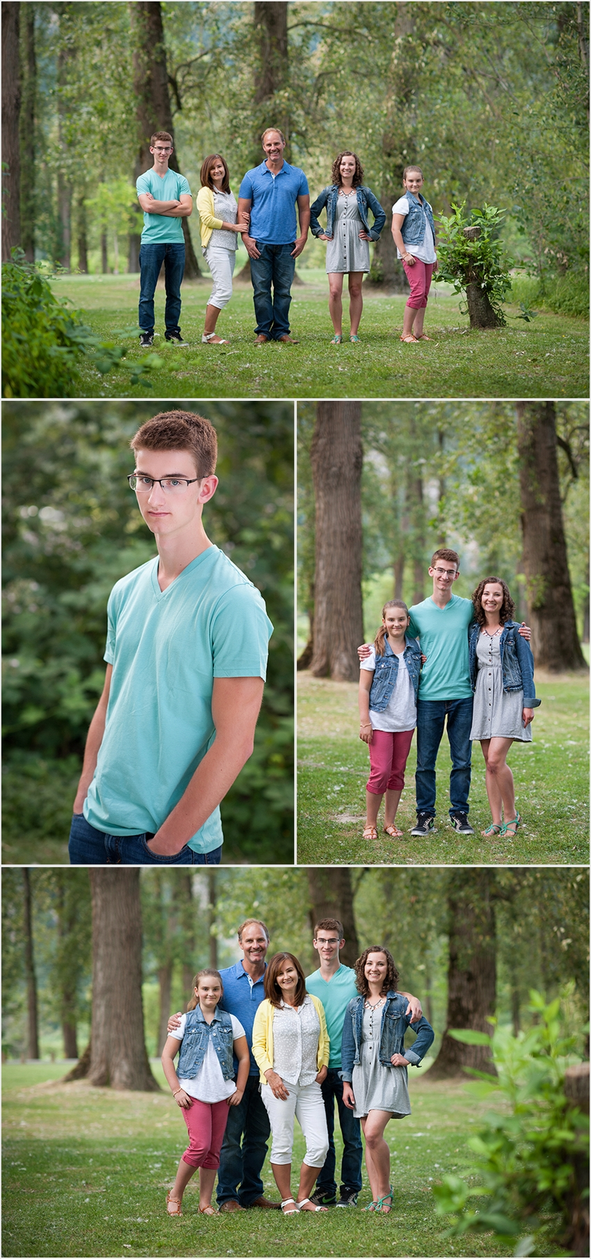 family photographer 001 (Side 1) the Falk Family and Josh's Grad