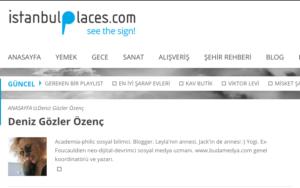 istanbulPlaces.com'da yazıyorum!