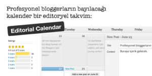 Profesyonel bloggerların bayılacağı kalender bir editoryel takvim