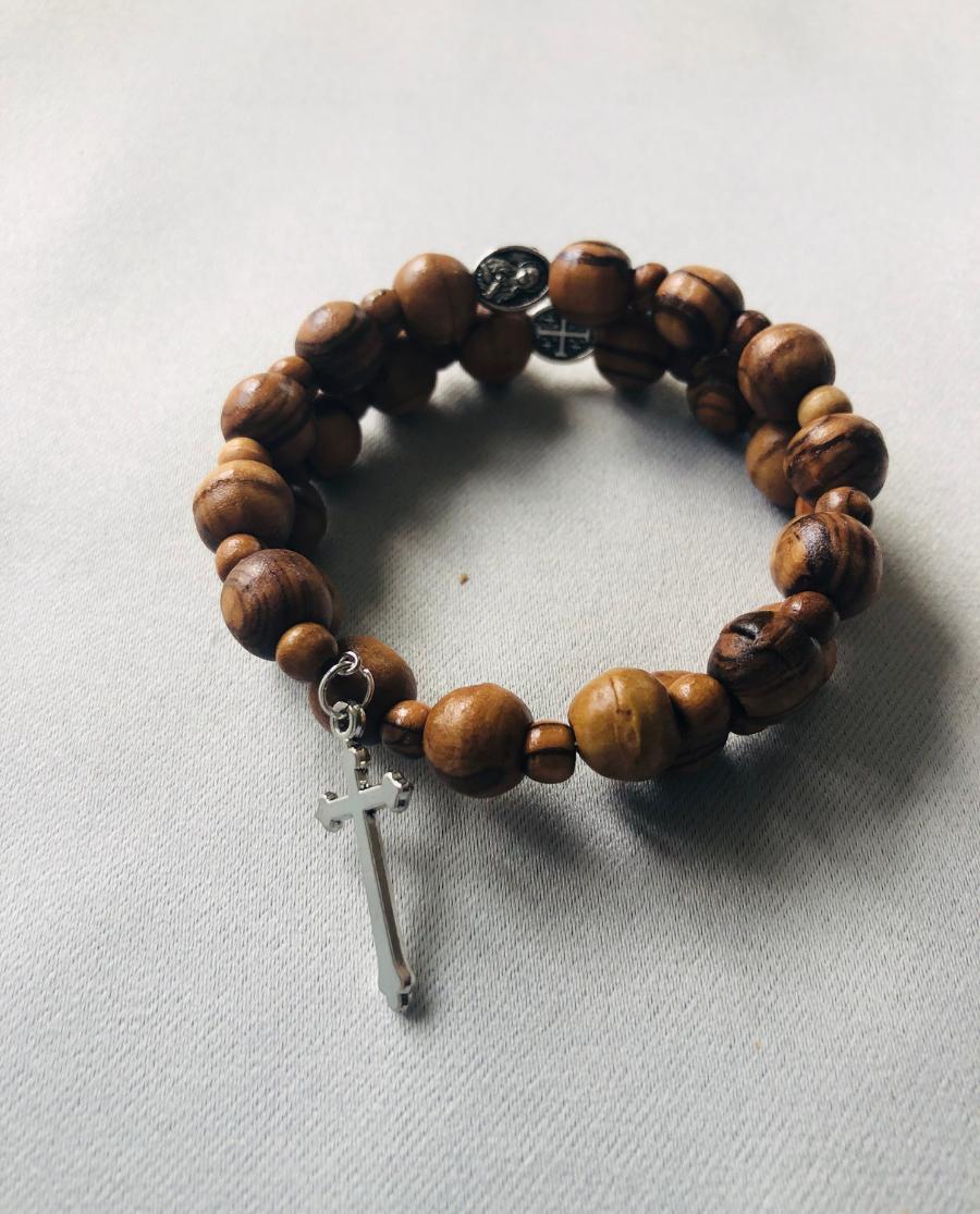 Wood Swirl Bracelet