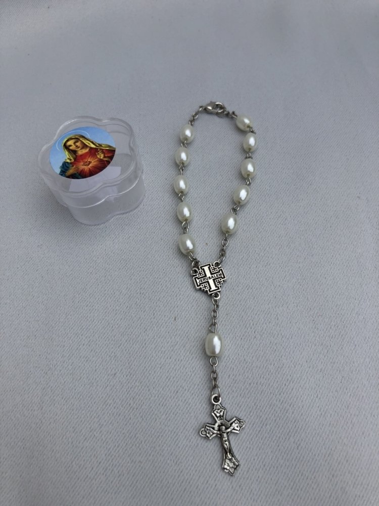 Pearl Rosary Bracelet