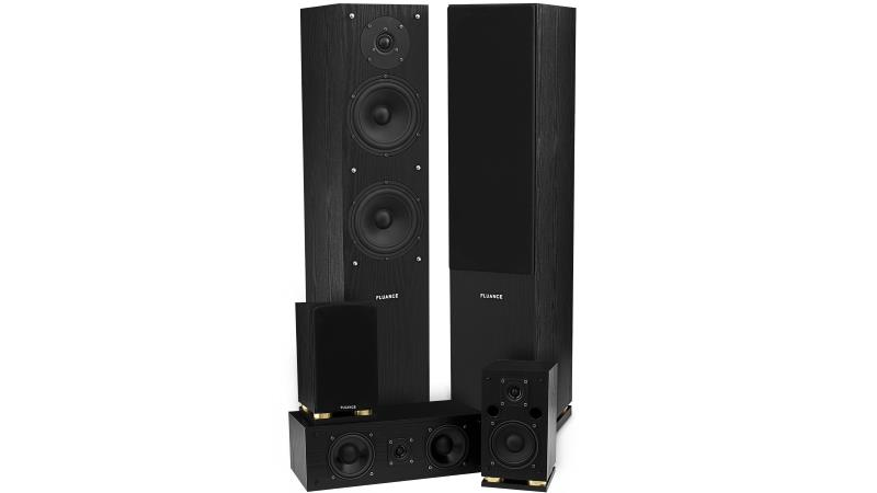 Fluance SXHTB-BK High Definition Surround Sound Home Theater 5.0 Channel Speaker System