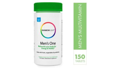 Rainbow Light Men's One Non-GMO Project Verified Multivitamin Plus Superfoods & Probiotics
